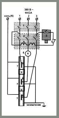 Электрическое подключение котлов КВЭ 380 Вольт